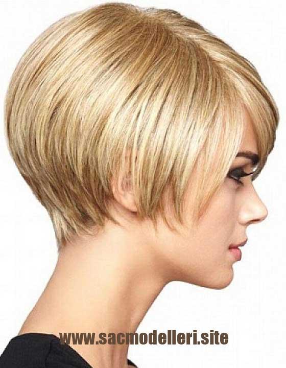 Bob Kesim Sarı Saç Modeli