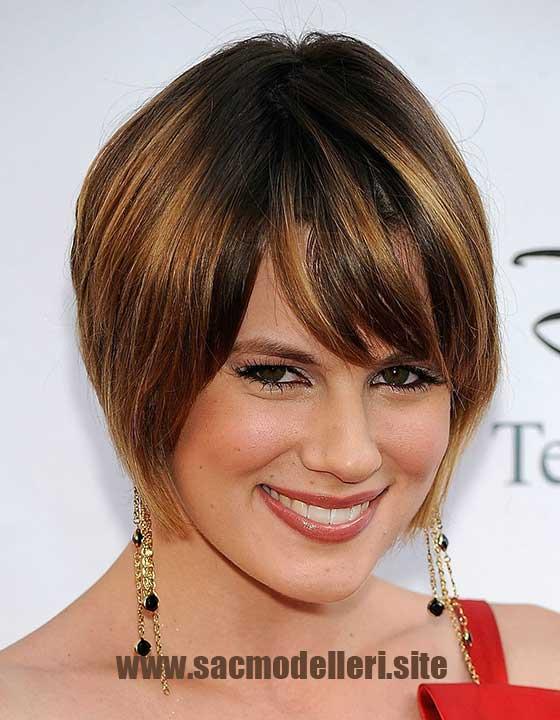Karamel Kısa Saç Modeli