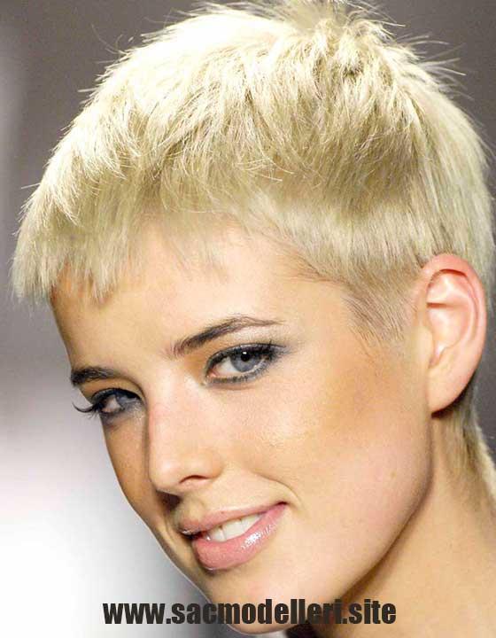 Çok Kısa Sarı Saç Modeli