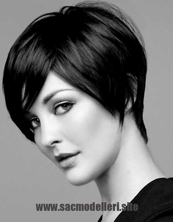 Siyah Küt Kısa Saç Modeli Kısa Saç Modelleri